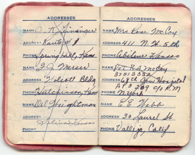 Mom 39 s 1945 red address book for 67 st pauls terrace spring hill